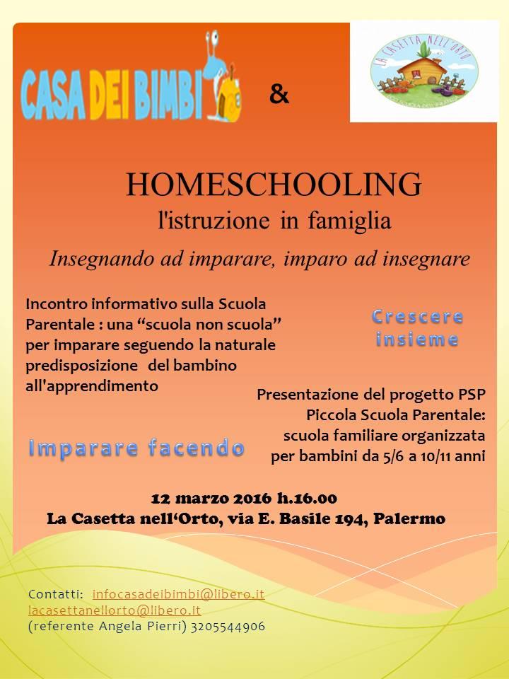 homeschooling e progetto psp